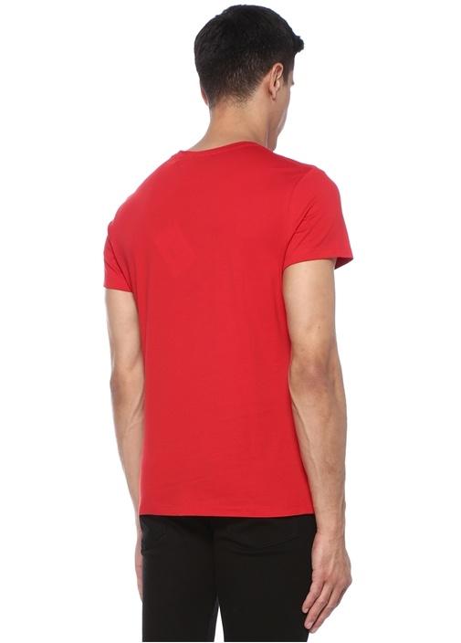 Kırmızı Bisiklet Yaka Kabartmalı LogoluT-shirt