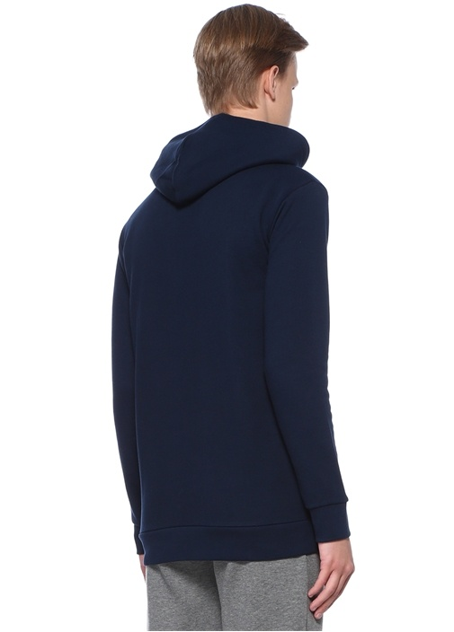 Trefoil Lacivert Kapüşonlu Sweatshirt