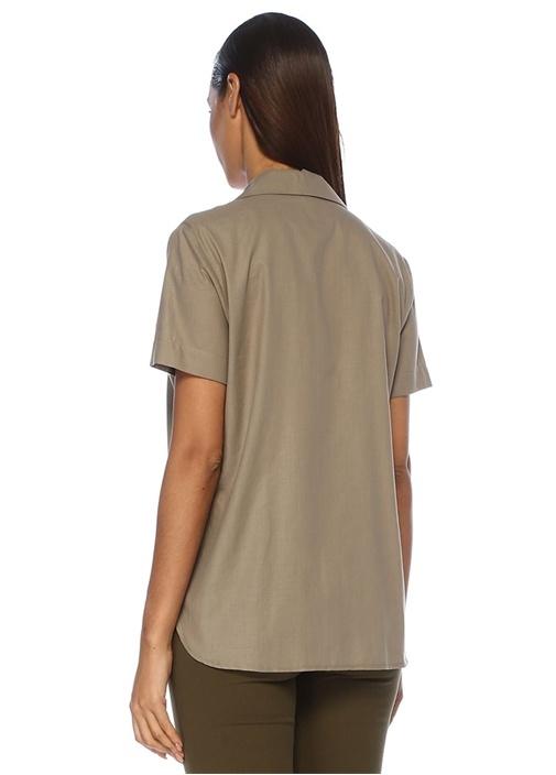 Vizon Apaç Yaka Kısa Kol Gömlek