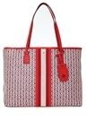 Gemini Kırmızı Desenli Kadın Alışveriş Çantası
