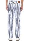 VersaceXFord Beyaz Baskılı Jean Pantolon
