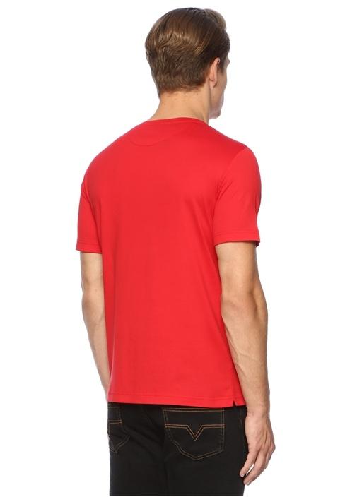 Kırmızı Canavar Gözlü Logolu Basic T-shirt