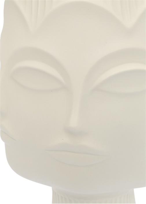Dora Maar Beyaz Figür Detaylı Porselen Vazo