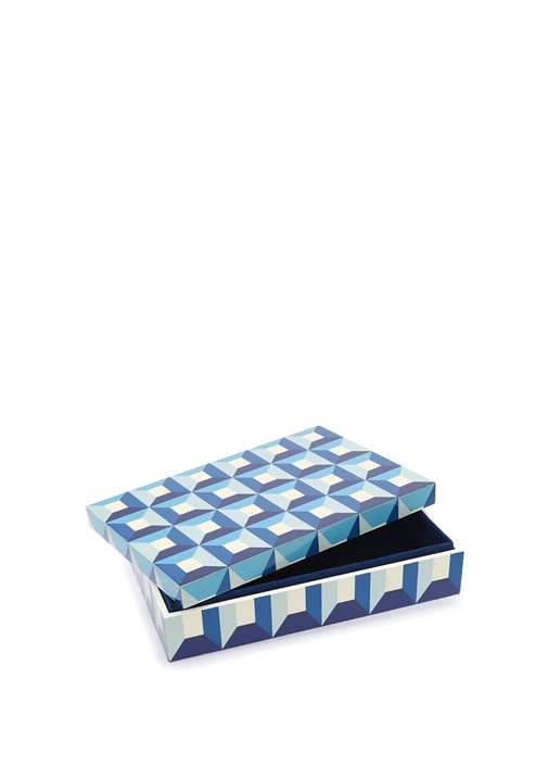 SorrentoLarge Mavi Porselen Dekoratif Kutu