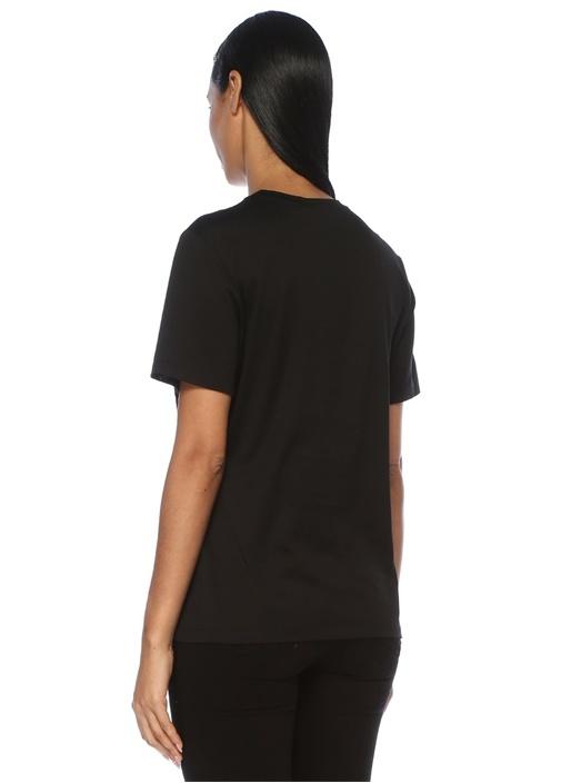 Medusa Siyah Gold Baskılı T-shirt