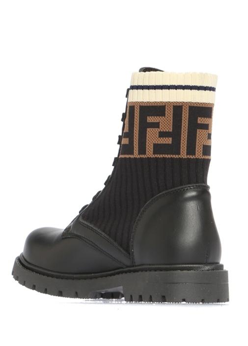 Siyah Logo Jakarlı Çorap Formlu Unisex Çocuk Bot