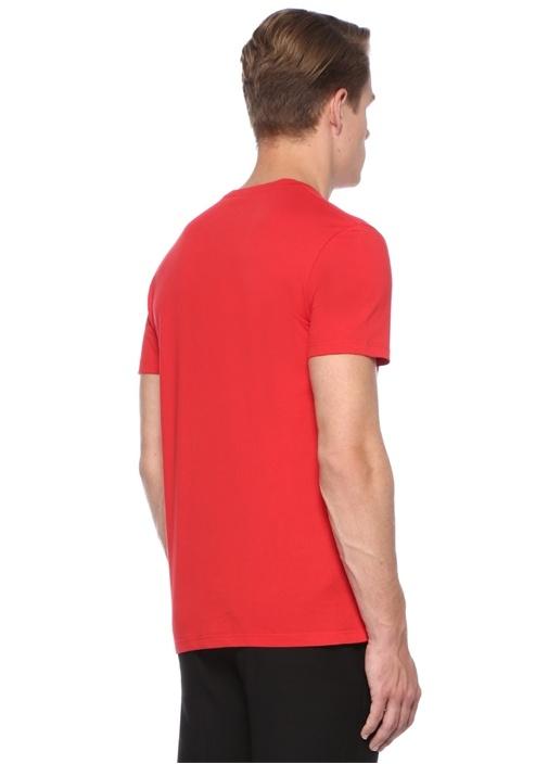 Kırmızı Kafa Tası Baskılı Logolu Basic T-shirt