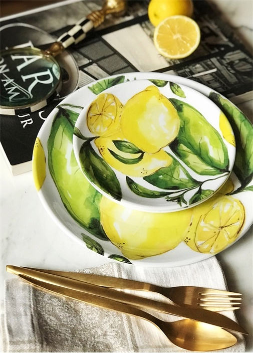 4'lü Citrus Collection Küçük Tabak Seti