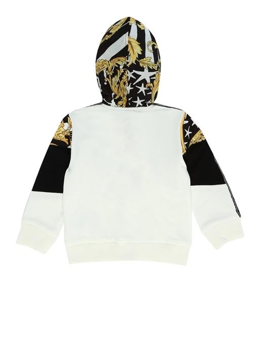 Barok Desenli Kapüşonlu Erkek Bebek Sweatshirt
