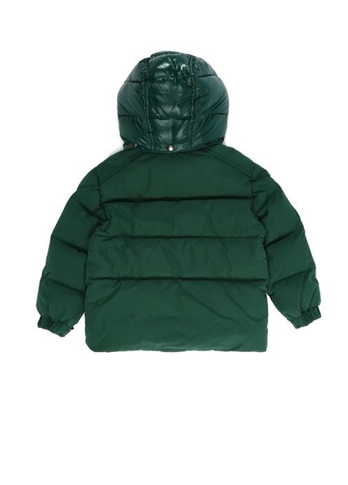 Vilbert Haki Kapüşonlu Logolu Erkek Çocuk Mont