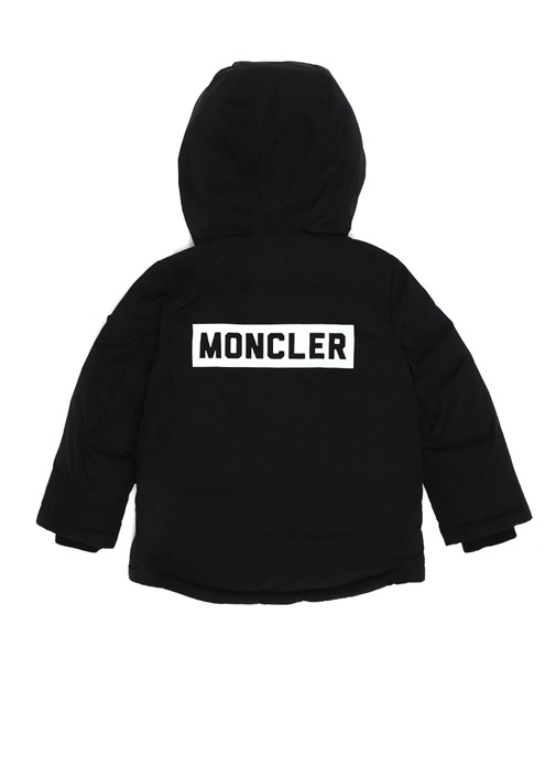 Salagou Siyah Kapüşonlu Erkek Çocuk Mont