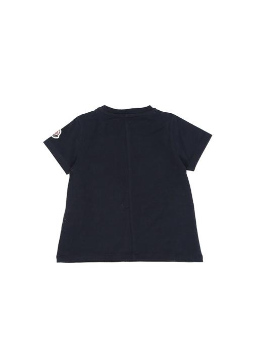 Lacivert Logo Baskılı Kız Bebek Basic T-shirt