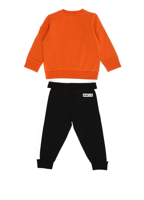 Turuncu Siyah 2li Erkek Bebek Eşofman Takımı