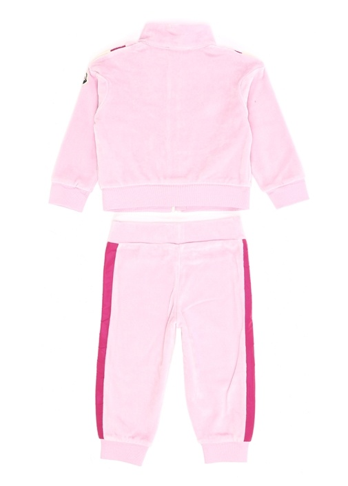 Pembe Garnili Logolu Kız Bebek Eşofman Takımı