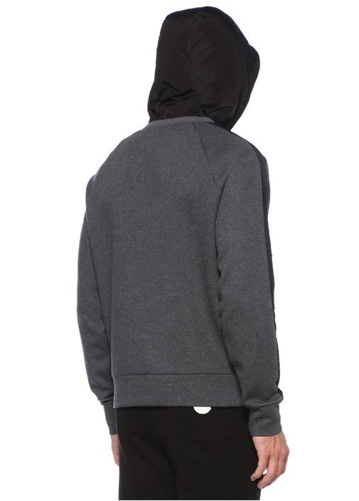 Antrasit Siyah Garnili Logolu Sweatshirt