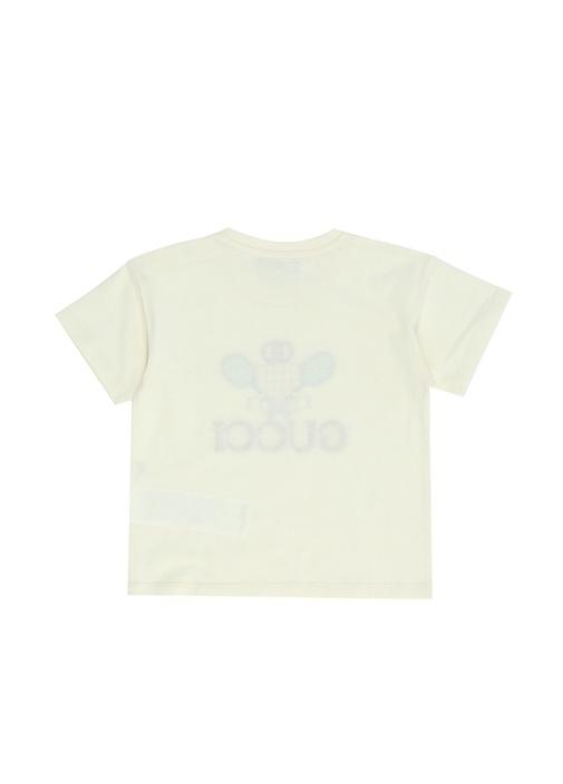 Logo Jakarlı Raket İşlemeli Erkek BebekT-shirt