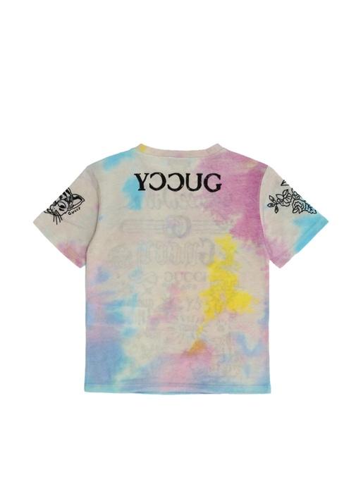 Colorblocked Batik Desenli Kız Çocuk T-shirt