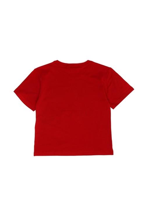 Kırmızı Nakışlı Erkek Çocuk T-shirt