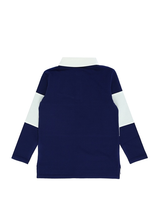 Lacivert Polo Yaka Logolu Erkek Çocuk Sweatshirt