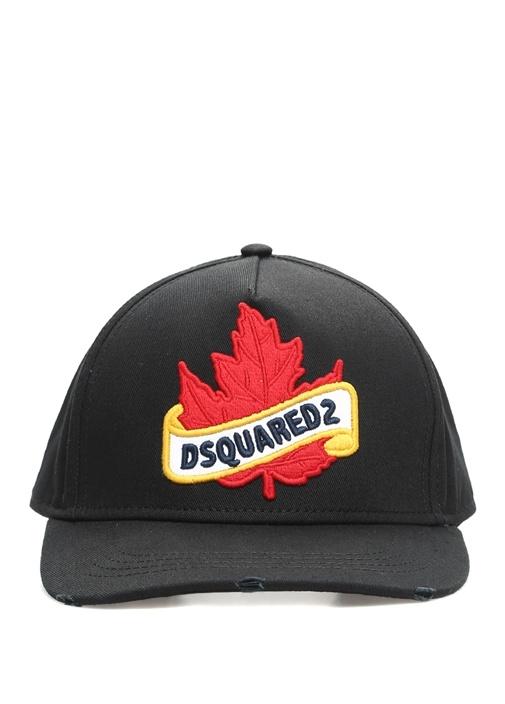 Siyah Logo Patch Detaylı Erkek Şapka