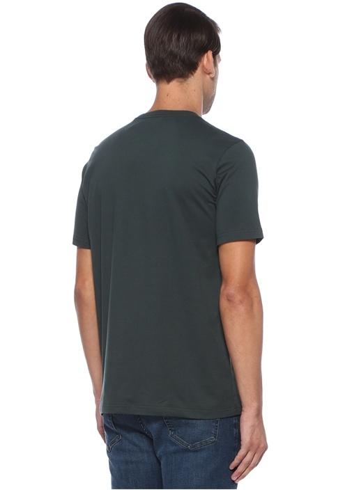 Regular Fit Yeşil Baskılı Basic T-shirt