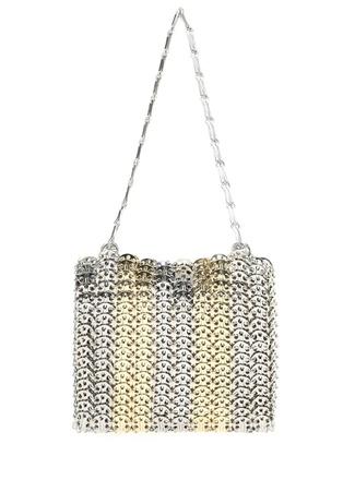 Paco Rabbane Kadın Iconic 969 Silver Gold Zincir Abiye Çanta Altın Rengi EU