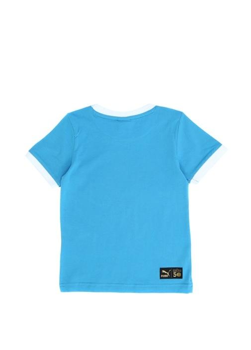 Regular Fit Mavi Baskılı Erkek Çocuk Basic T-shirt