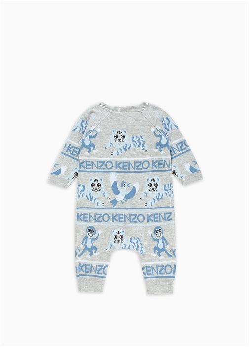 Gri Jakarlı Erkek Bebek Organik PamukluTulum