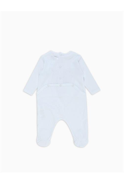Beyaz Kaplanlı Erkek Bebek Organik Pamuklu Tulum