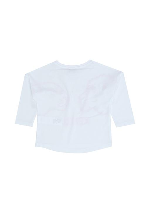 Gina Beyaz Baskılı Kız Çocuk Sweatshirt