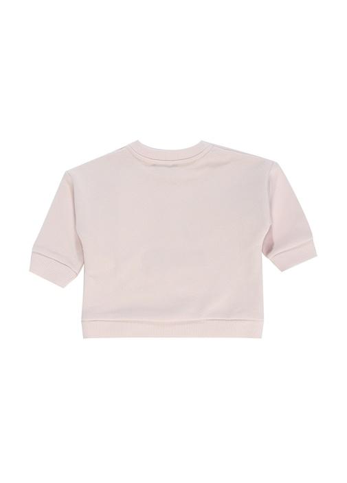 Pembe Kaplan Nakışlı Kız Bebek Sweatshirt