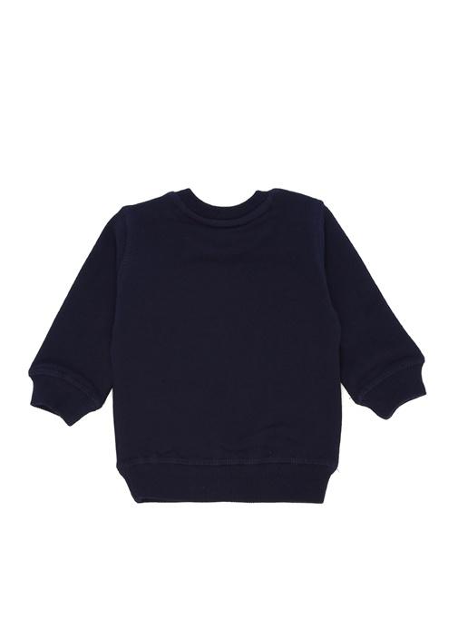 Lacivert Kaplan Nakışlı Erkek Bebek Sweatshirt