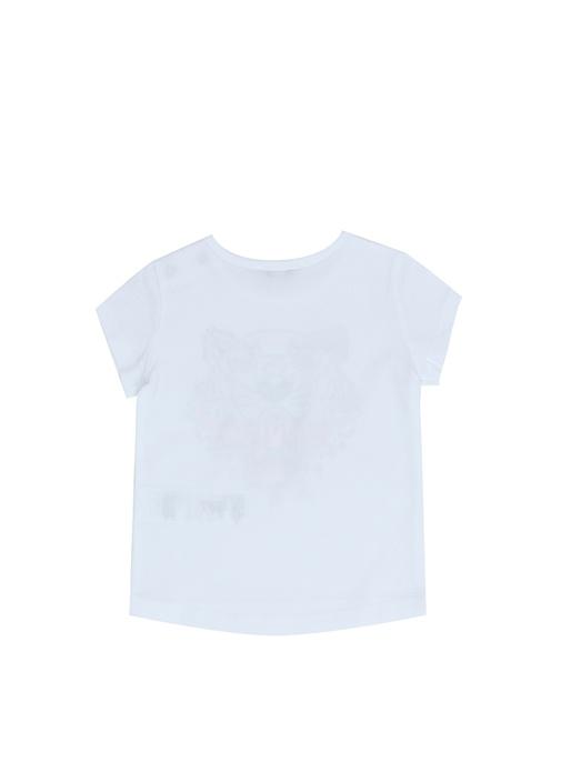 Tiger Beyaz Baskılı Kız Bebek T-shirt