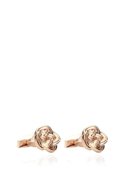 Gold Düğüm Formlu Kol Düğmesi