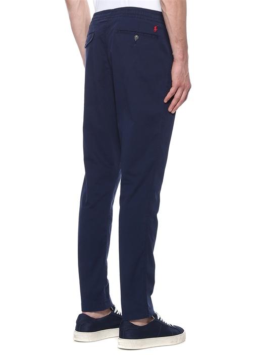 Relaxed Fit Lacivert Boru Paça Pantolon