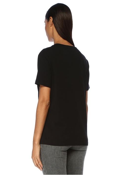 Siyah Beyaz Yazı Baskılı T-shirt