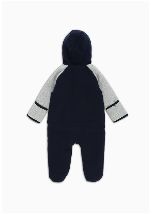 Lacivert Logo Patchli Erkek Bebek Tulum