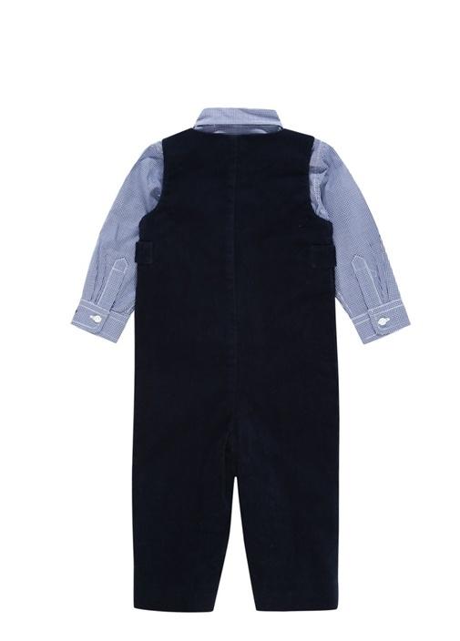 Lacivert Gömlekli 2li Erkek Bebek TulumSeti
