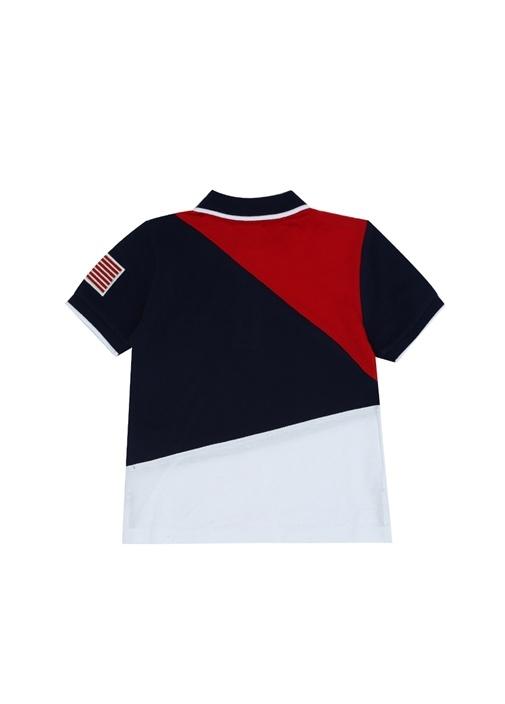 Mavi Logolu Polo Yaka Erkek Çocuk T-shirt