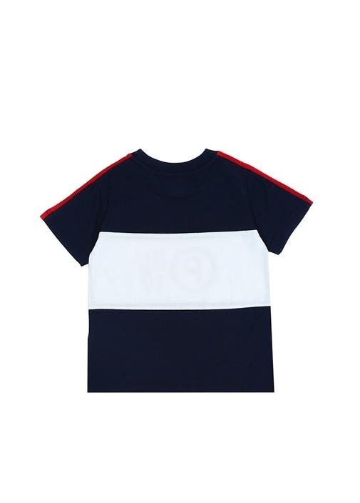 Lacivert Beyaz Logo Baskılı Erkek ÇocukT-shirt