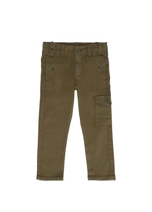 Haki Erkek Çocuk Kanvas Pantolon