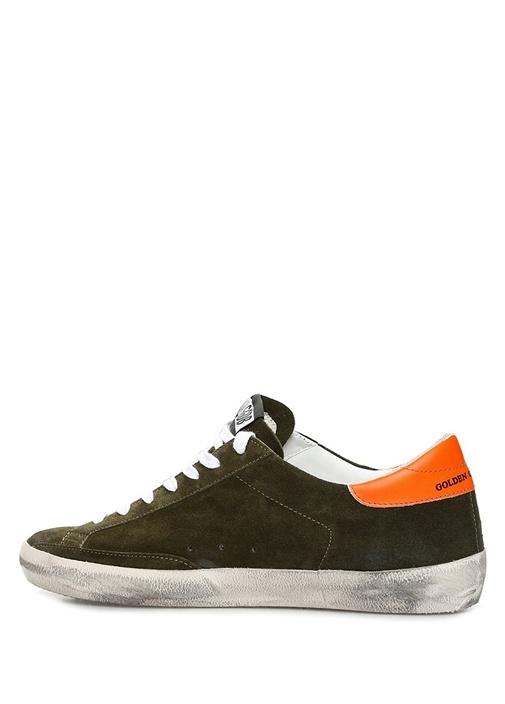 Superstar Haki Eskitmeli Erkek Süet Sneaker