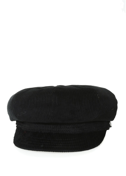 Siyah Kadife Erkek Kasket Şapka