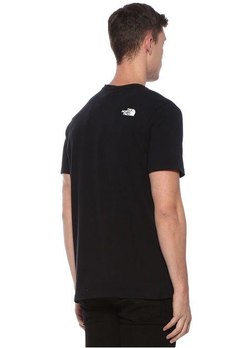 Siyah Logo Patchli Basic T-shirt