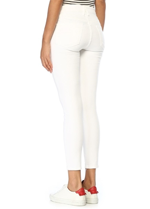 Good Legs Beyaz Crop Skinny Jean Pantolon