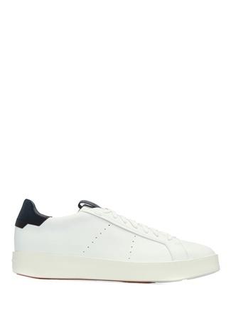 Santoni Sport Erkek Beyaz Logolu Sneaker 7.5 UK male