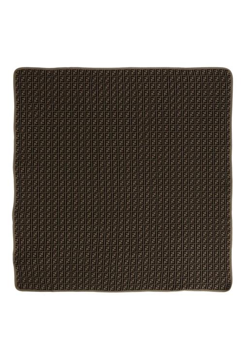 Kahverengi Logo Jakarlı Unisex Bebek Battaniye