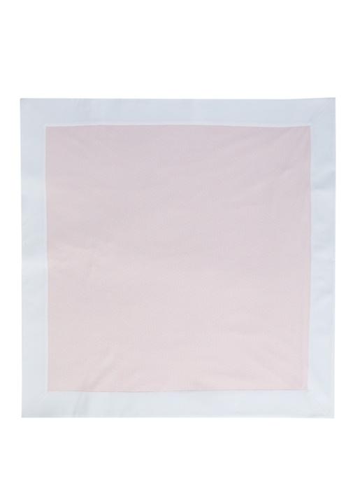 Pembe Beyaz Mikro Logolu Unisex Bebek Battaniye