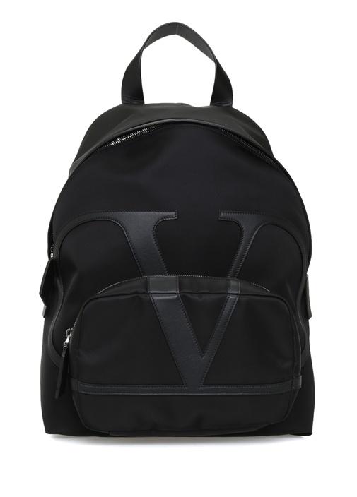 Vring Siyah Logolu Erkek Sırt Çantası