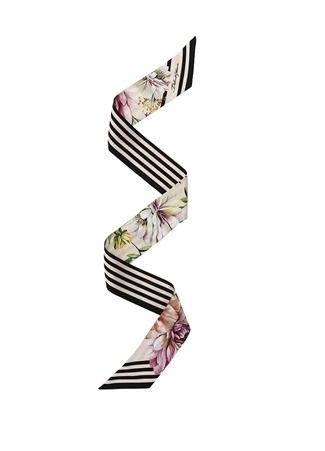 Dolce&Gabbana Kadın Colorblocked Çiçek Desenli İpek Fular EU Çok Renkli female Standart